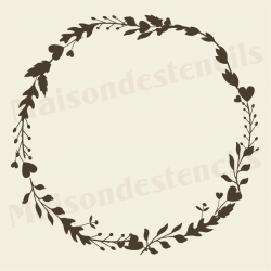 Laurel Wreath hand sketched 12x12 stencil