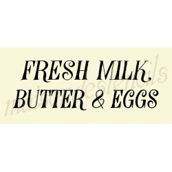 Fresk Milk, Butter & Eggs 8X18 stencil