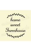 home sweet farmhouse 12x12 stencil