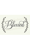 Blessed with Laurels 12x18 stencil