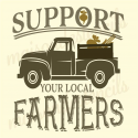 Support your local FARMERS 12x12 stencil