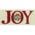 JOY with wreath 8x18 Stencil