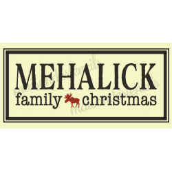 Custom Christmas Family Name 8x18 Stencil