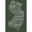 New Jersey Words and Phrases 12x18 Stencil