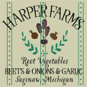 Harper Farms Root Vegetables 12x12 stencil