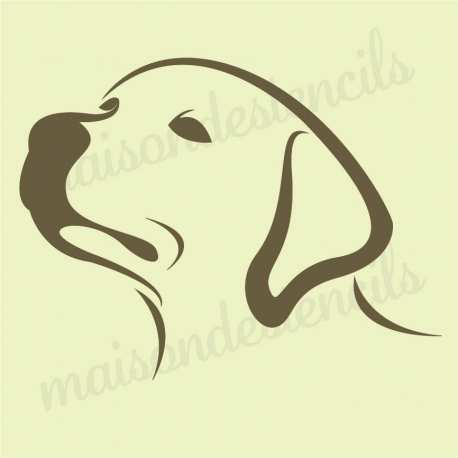 Retriever Puppy dog silhouette 12x12 stencil