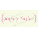 Happy Easter with Laurels 8x18 Stencil