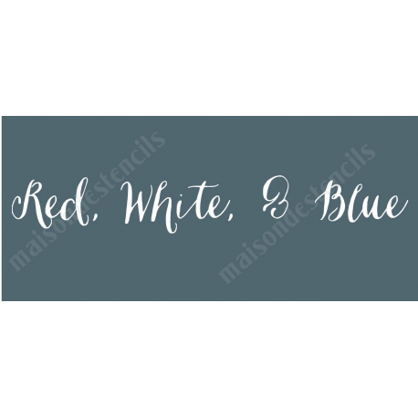 Red White and Blue 8x18 stencil