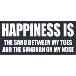 HAPPINESS IS THE SAND BETWEEN MY TOES 8x18 stencil