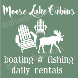 Moose Lake Cabins 12x12 stencil