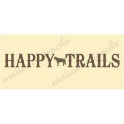 Happy Trails 8x18 stencil