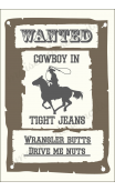WANTED Cowboy in tight jeans 12x18 stencil