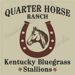 Quarter Horse Ranch 12x12 stencil