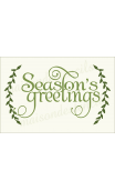 Season's Greetings with Laurels 12x18 stencil