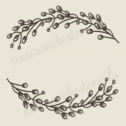Cotton Laurel Wreath 12x12 stencil