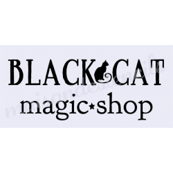 Black Cat Magic Shop 5.5X11.5 stencil