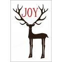 Deer with Large antlers JOY 12x18 stencil