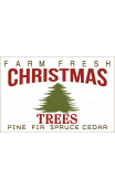 Farm Fresh CHRISTMAS TREES 2018 12x18 stencil