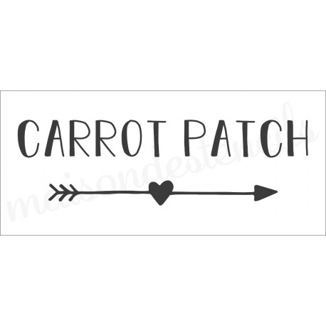 Carrot Patch 8x18 stencil