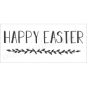 Happy Easter with laurel 8x18 stencil
