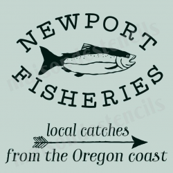 Northport Fisheries 12x12 stencil