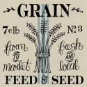 Grain Feed an Seed with stripe 12x12 stencil
