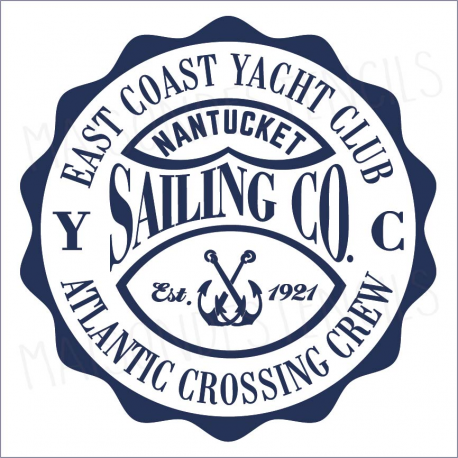East Coast Yacht Club 12x12 stencil