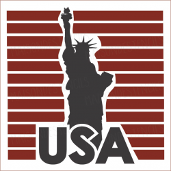 Statue of Liberty USA with stripes 2019 12x12 stencil