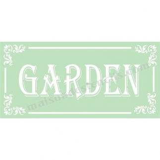 Garden With Scroll Corners 5.5x11.5 Stencil