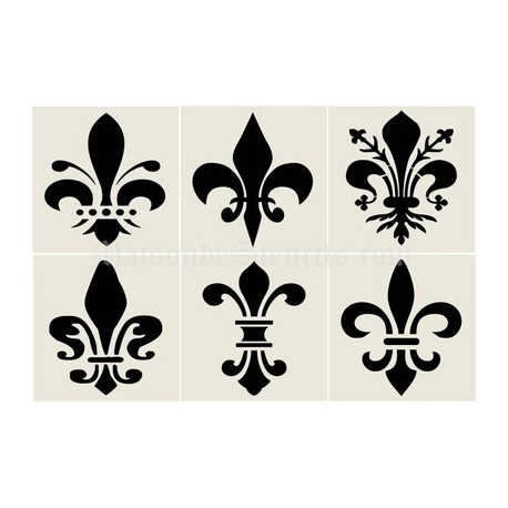 fleur de lis 4x4 stencil collection