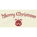 Merry Christmas with Ornament 5.5x11.5 Stencil