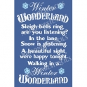 Winter Wonderland Christmas 12x18 Stencil