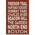 Boston New England Subway Art 12x18 Stencil