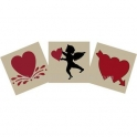 Cupid Trio - 3 Small Stencils