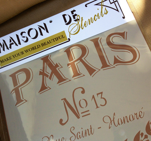Maison de Stencils retail packaging