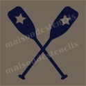 Boat Paddles with Star 12x12 Stencil