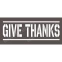 Give Thanks Army Thanksgiving Holiday 5.5x11.5 Stencil