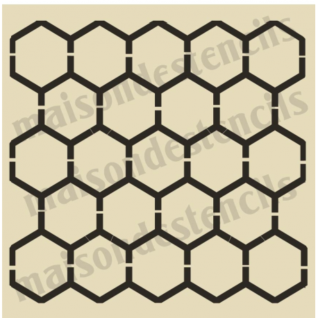 Honeycomb Chicken wire Background 12x12 Stencil