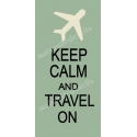 Keep Calm and Travel On 5.5x11.5 Stencil