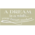 A Dream Is A Wish Scroll 5.5x11.5 Stencil