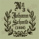 Feedsack German Replica No. 3 Johann Schmid 12x12 Stencil