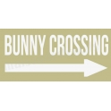 Bunny Crossing with Arrow 5.5x11.5 Stencil