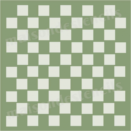 Checkers Squares Background 12x12 Stencil