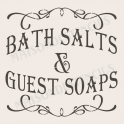 Bath Salts and Guest Soaps 12x12 Stencil