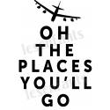 Oh The Places You'll Go 12x18 Stencil