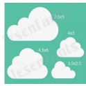 Cloud Graphics 12x12 Stencil