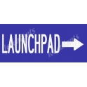 Launch Pad with Arrow 8x18 Stencil