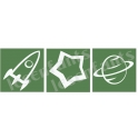 Space Graphics Trio - 3 Small Stencils