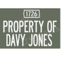 Property of Davy Jones 12x18 Stencil
