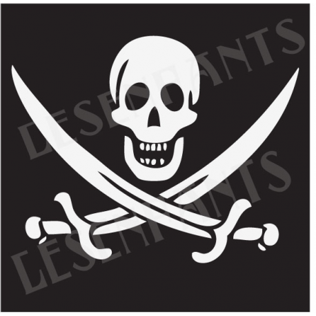 Jolly Roger Graphic 8x8 Stencil